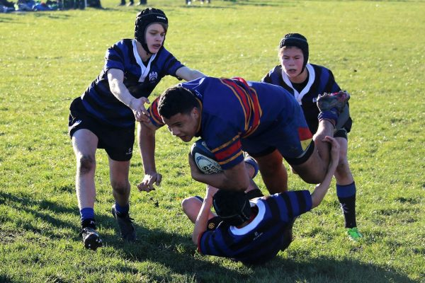 St Thomas of Canterbury College Boys playing rugby
