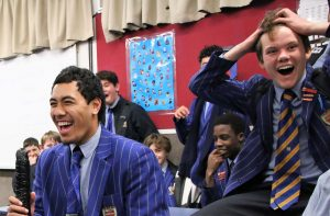 St Thomas of Canterbury College Boys laughing