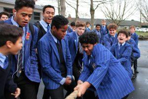 STC students tug of war