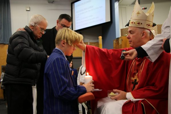 St Thomas of Canterbury student being confirmed
