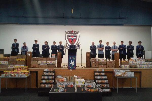 St Thomas of Canterbury College Boys foodbank collection