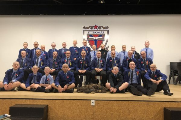 St Thomas of Canterbury College Boys shave for a cure