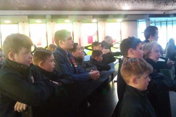 St Thomas of Canterbury College Boys taking year 7 boys to mass