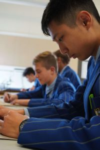 St Thomas of Canterbury College boys learning