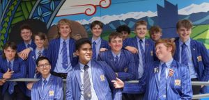 St Thomas of Canterbury College boys in uniform smiling