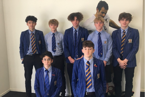 St Thomas of Canterbury College boys in blazer and tie